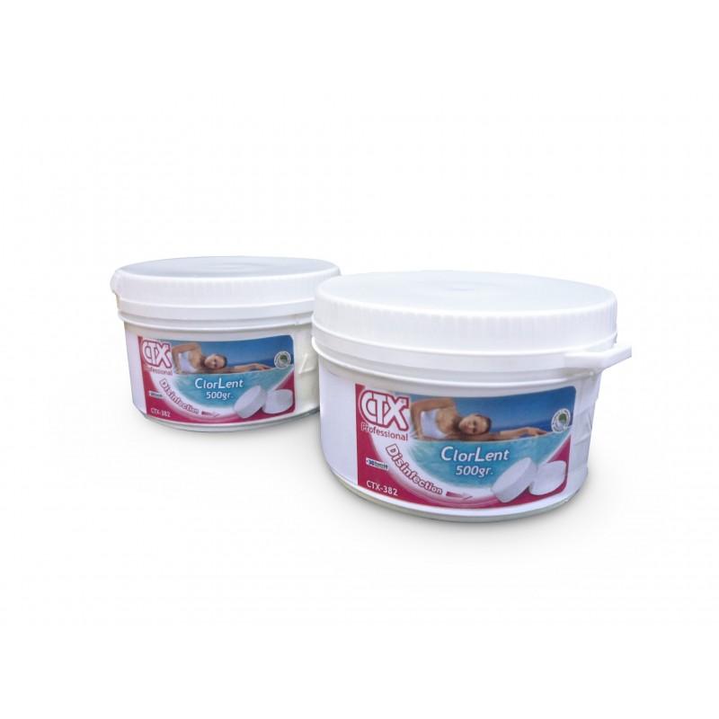 Chlore lent ctx382 pastilles 500 gr - Pastille chlore piscine gonflable ...